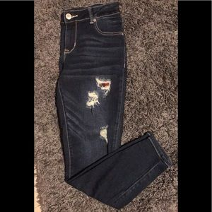 Maurices Buffalo Plaid Destructed Jeans